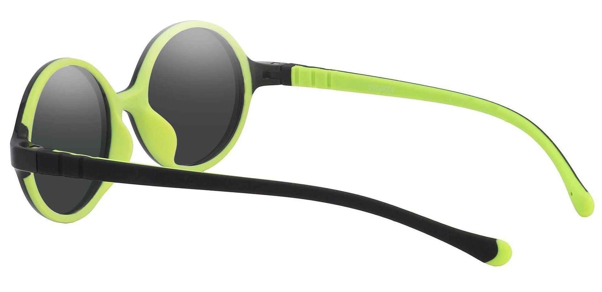 Dagwood Round Prescription Sunglasses - Black Frame With Gray Lenses