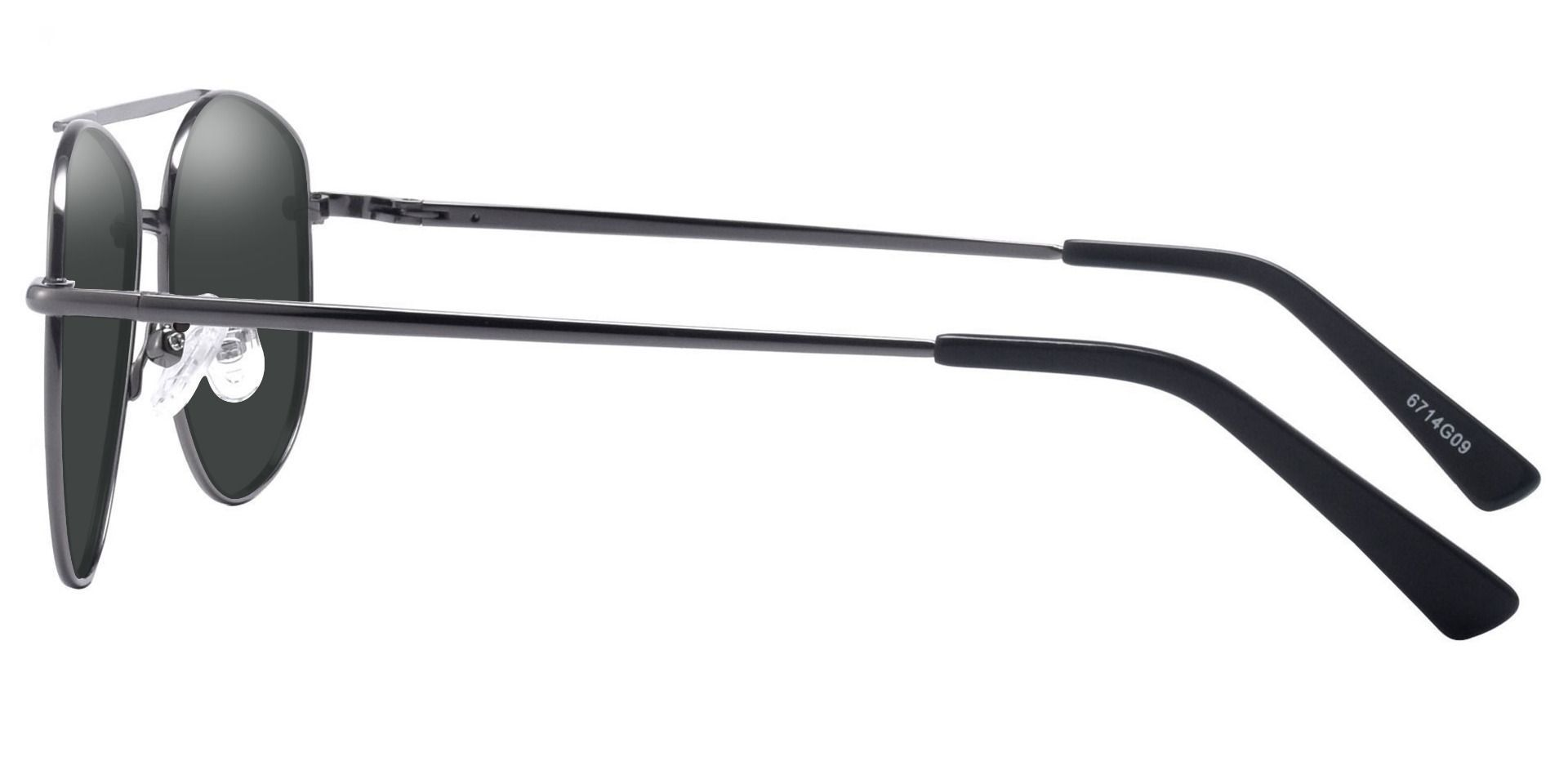 Dwight Aviator Prescription Sunglasses - Gray Frame With Gray Lenses