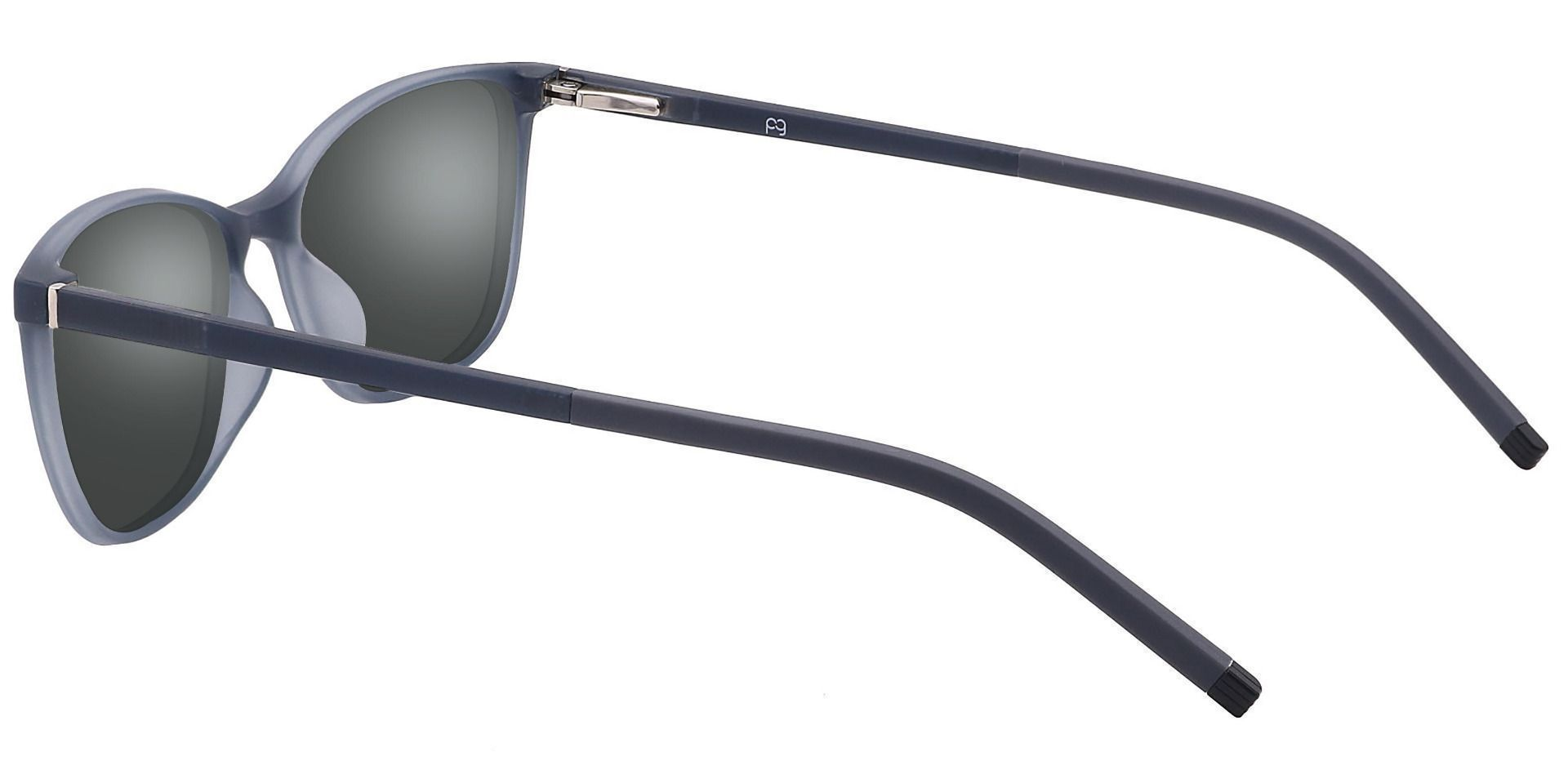 Danica Square Prescription Sunglasses - Gray Frame With Gray Lenses