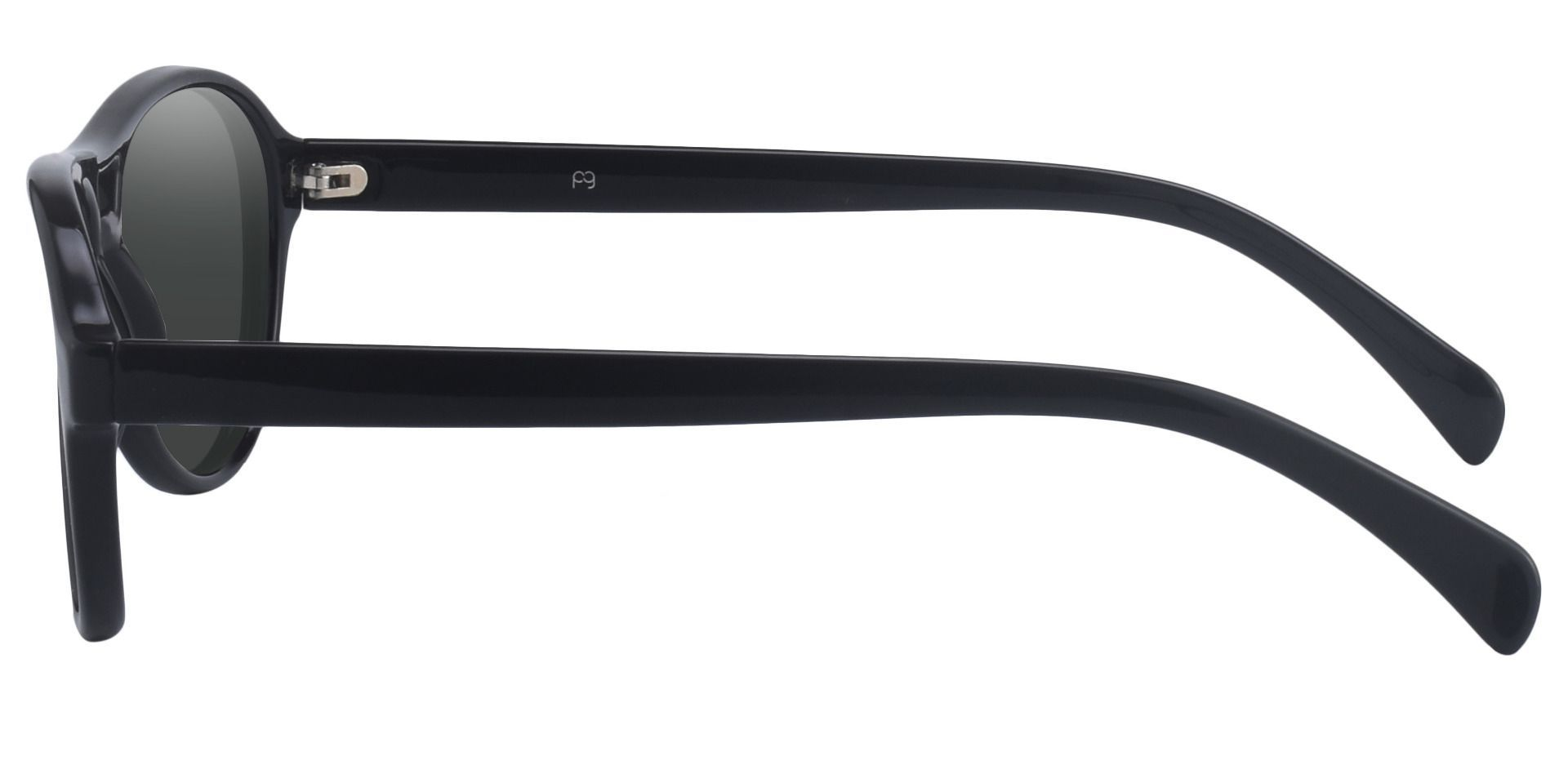 Sosa Aviator Prescription Sunglasses - Black Frame With Gray Lenses