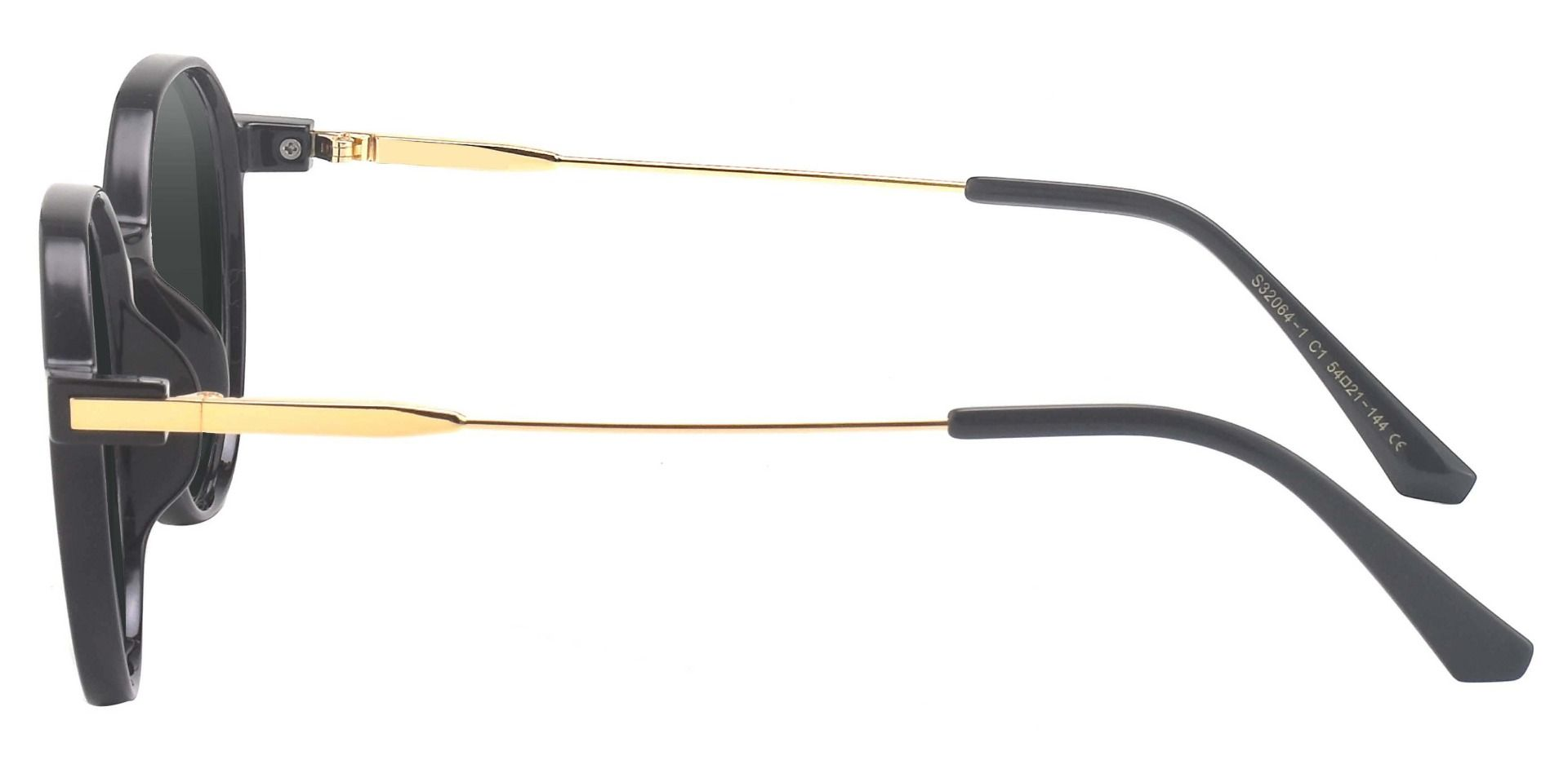 Daytona Geometric Reading Sunglasses - Black Frame With Gray Lenses
