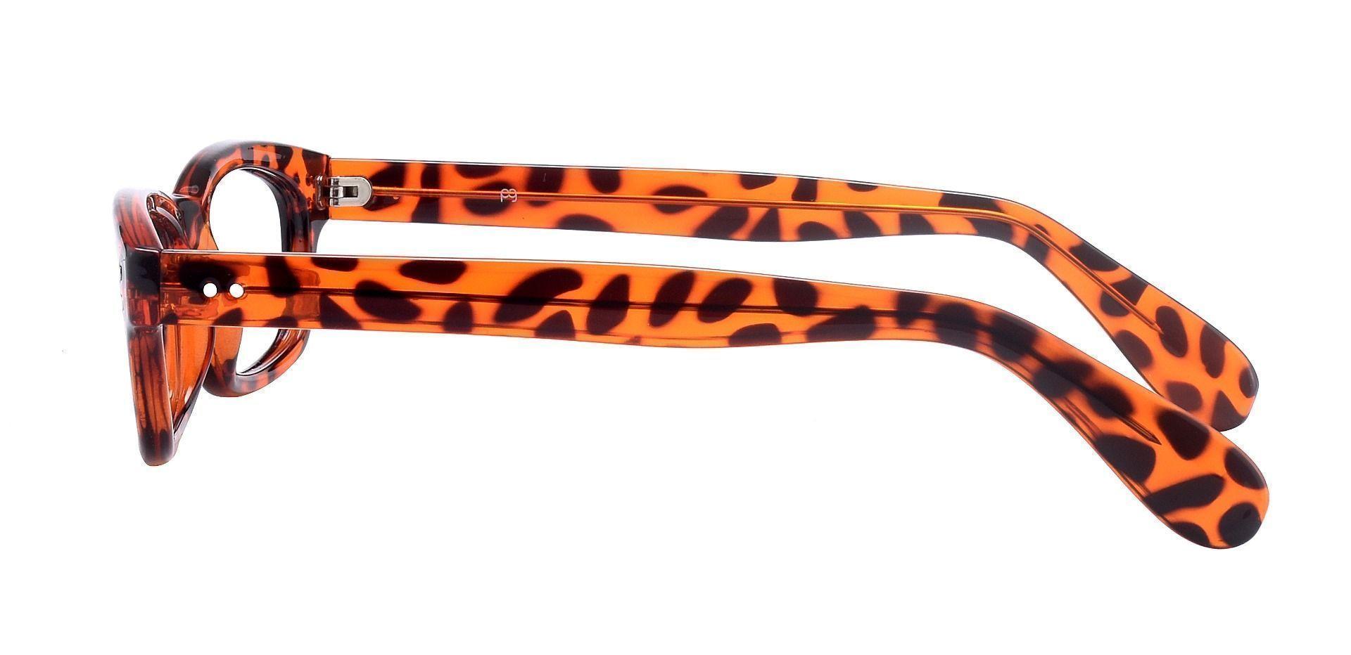 Panthera Rectangle Blue Light Blocking Glasses - Orange Crystal Tort