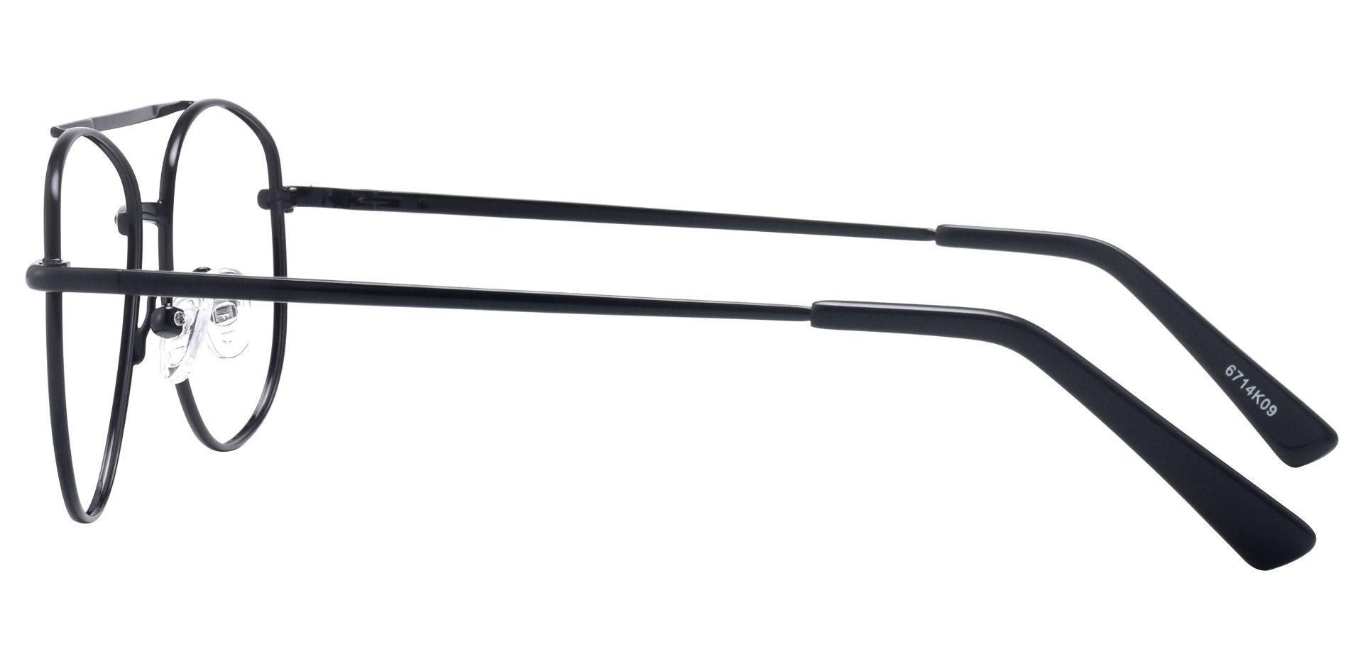 Dwight Aviator Single Vision Glasses - Black