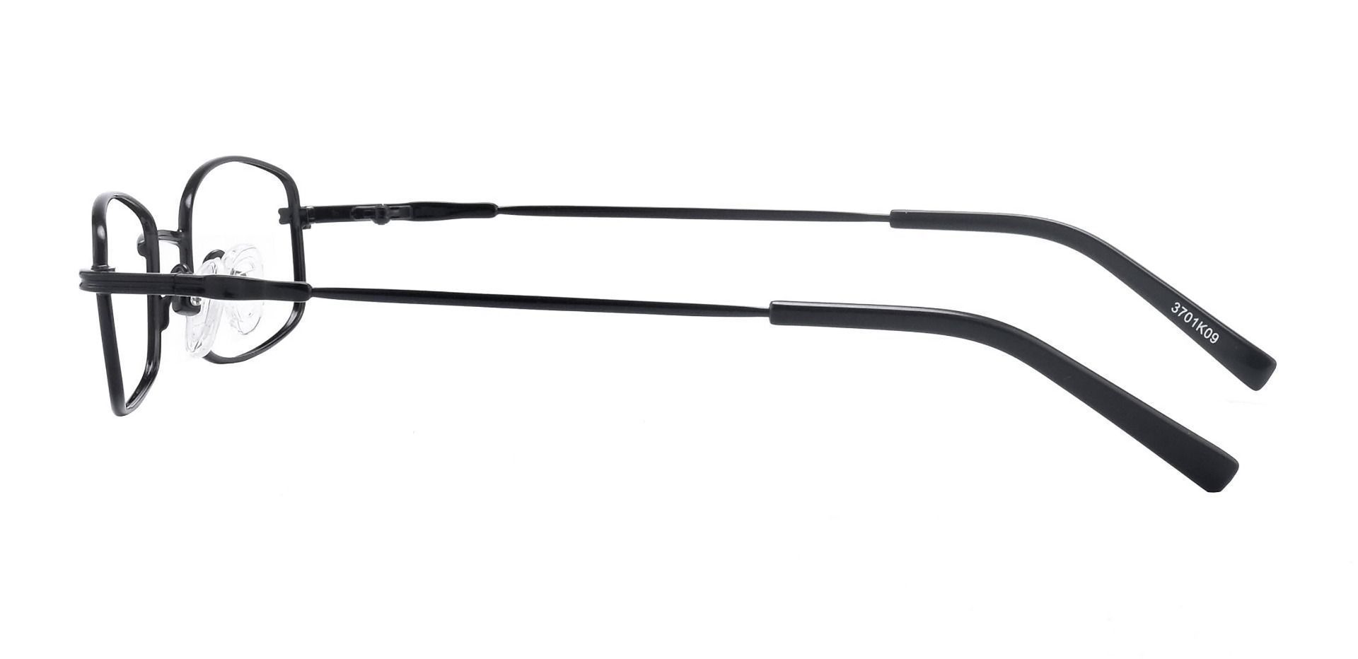 Karl Rectangle Single Vision Glasses - Black