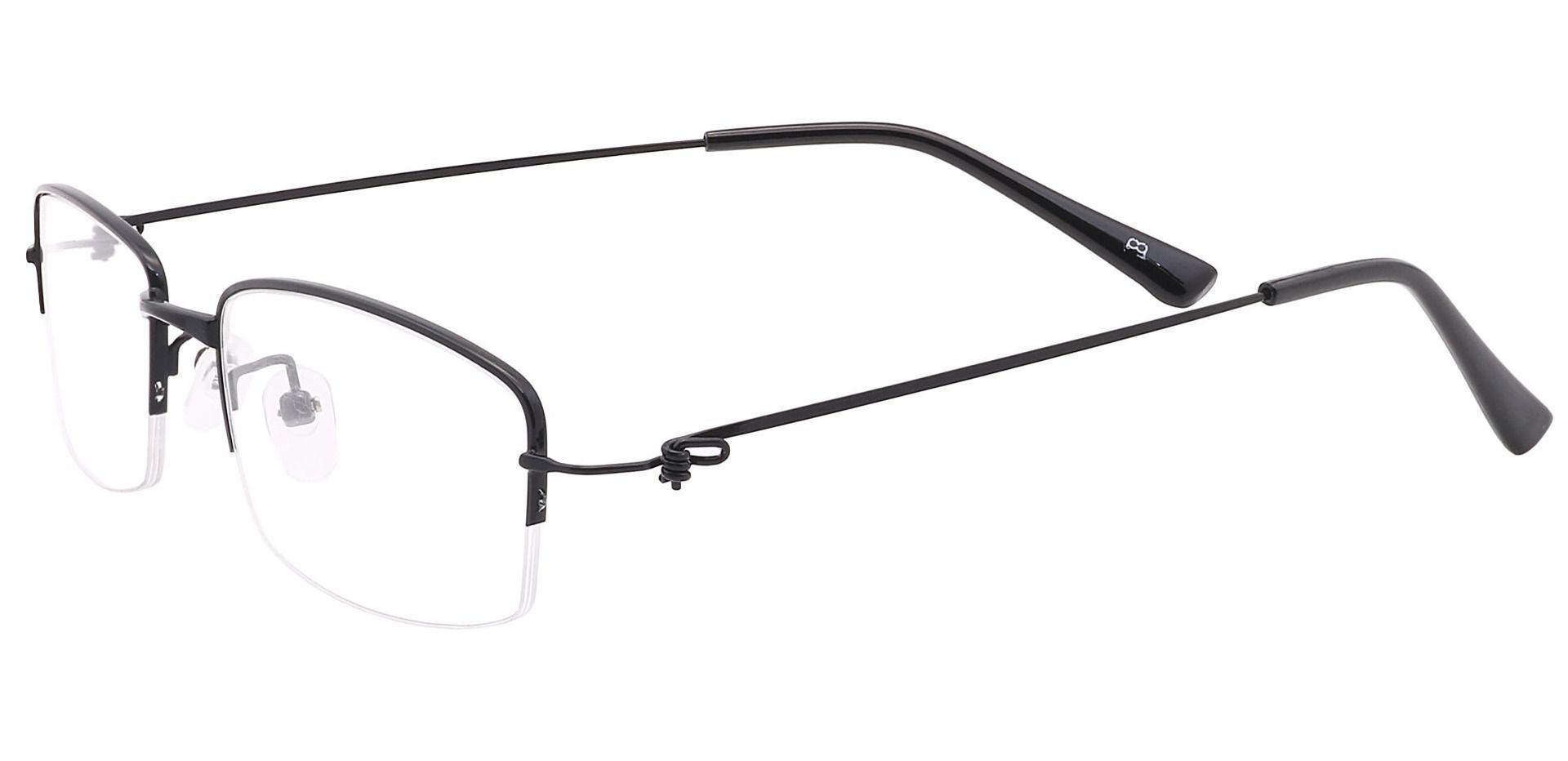 Wyoming Rectangle Prescription Glasses - Black