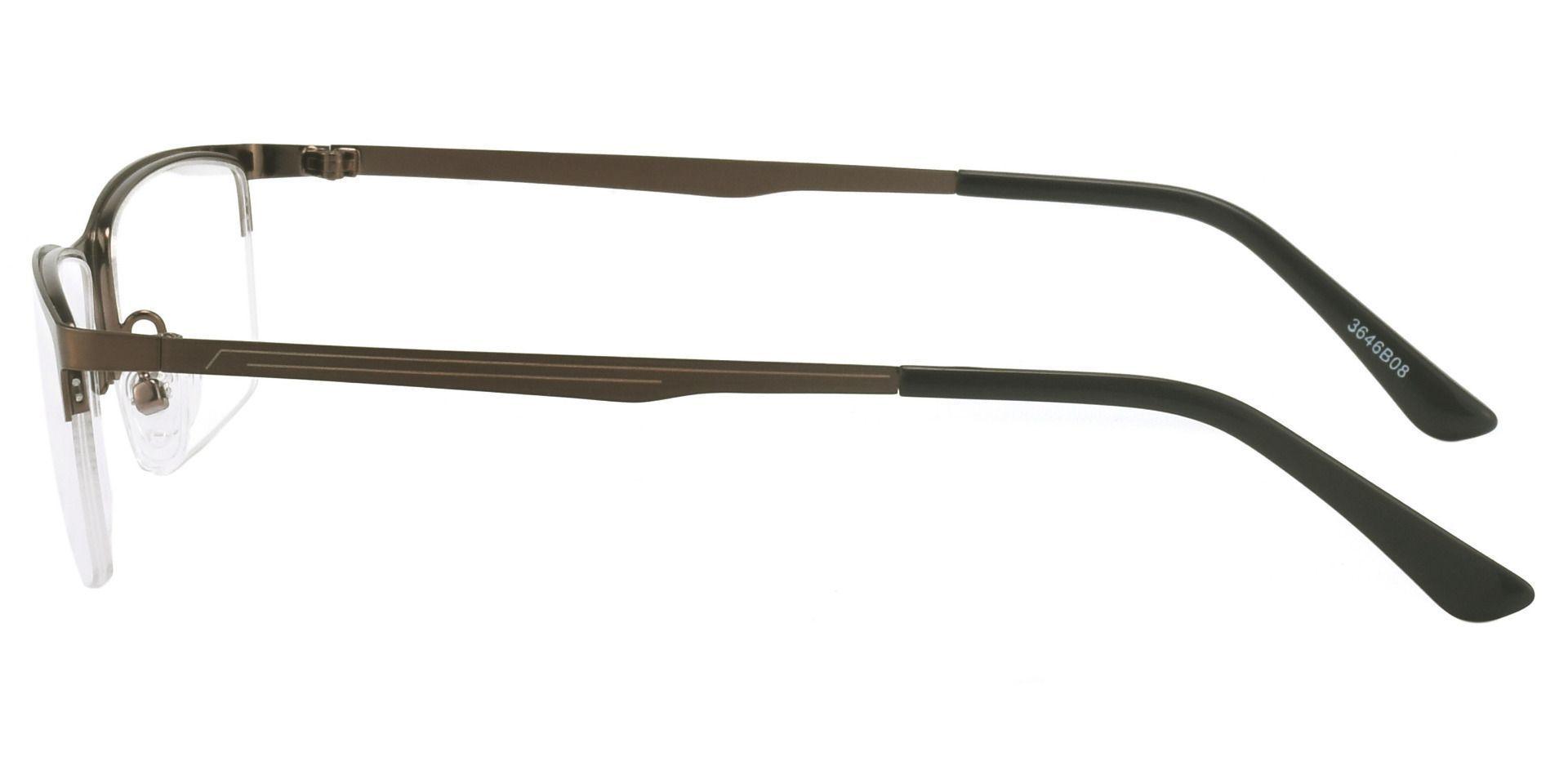 Lombard Rectangle Prescription Glasses - Brown