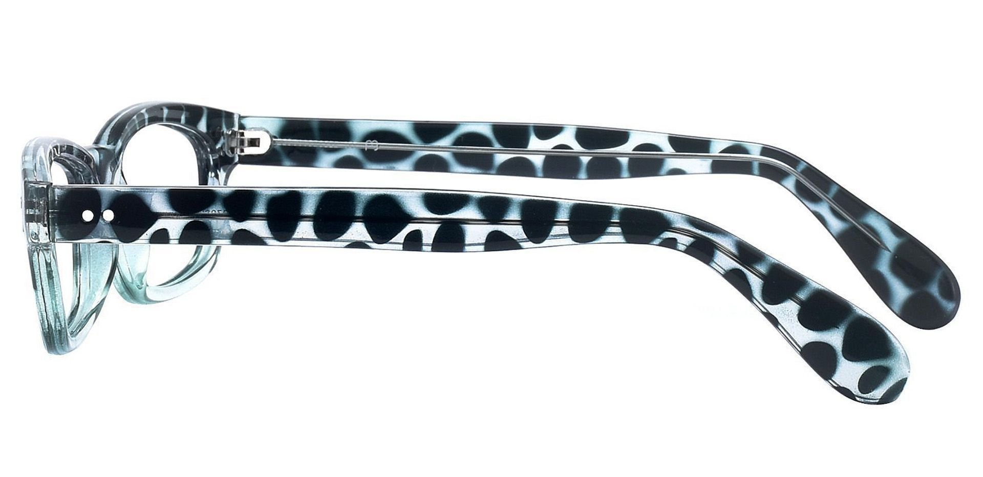 Panthera Rectangle Prescription Glasses - Blue
