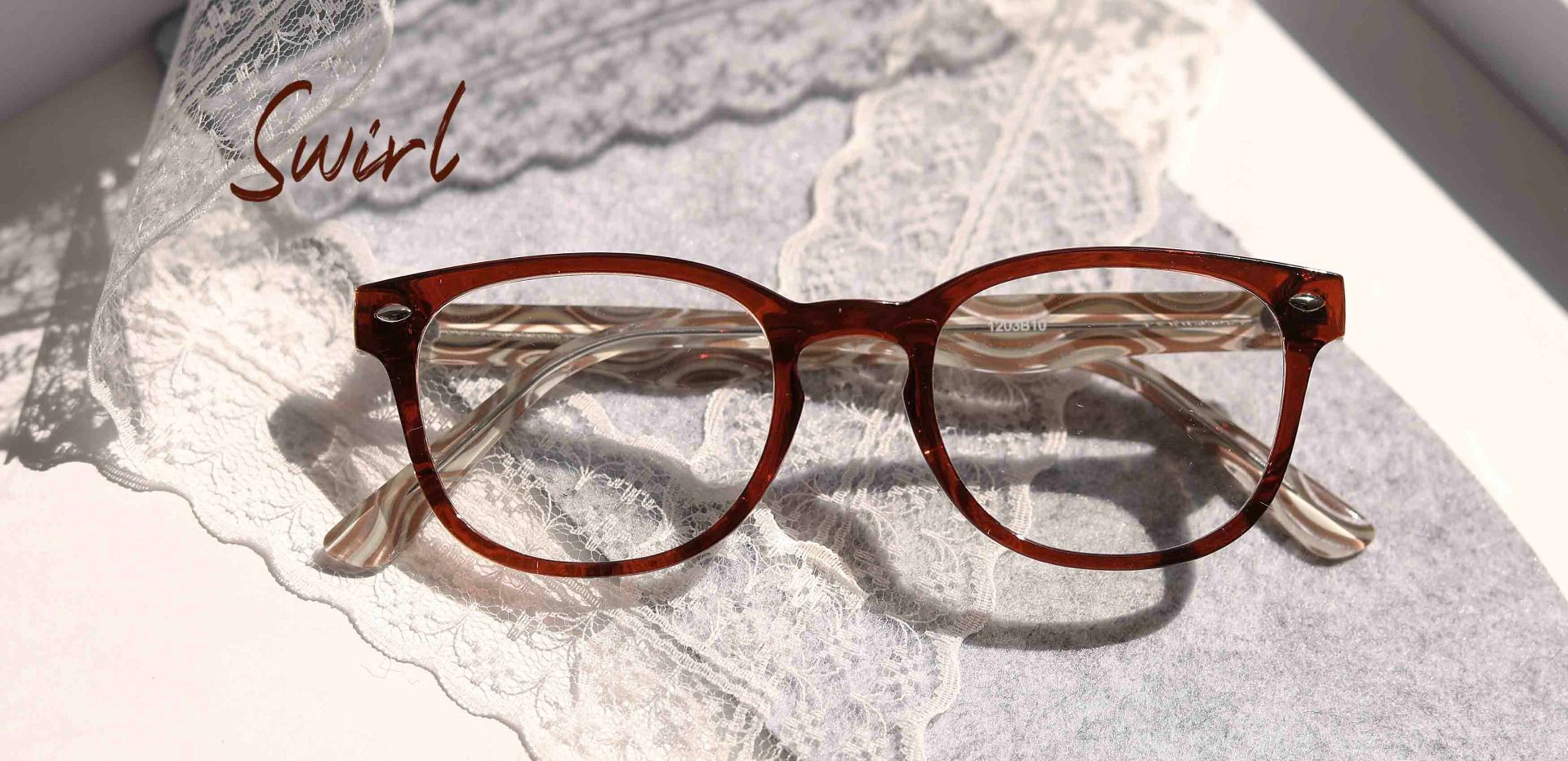 Swirl Classic Square Reading Glasses - Brown