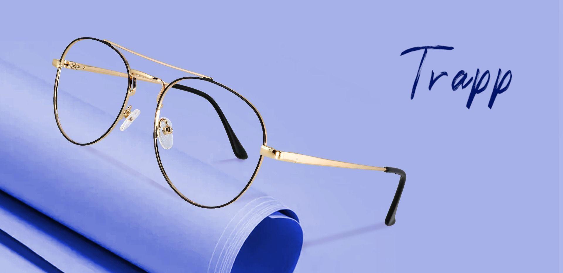 Trapp Aviator Non-Rx Glasses - Gold