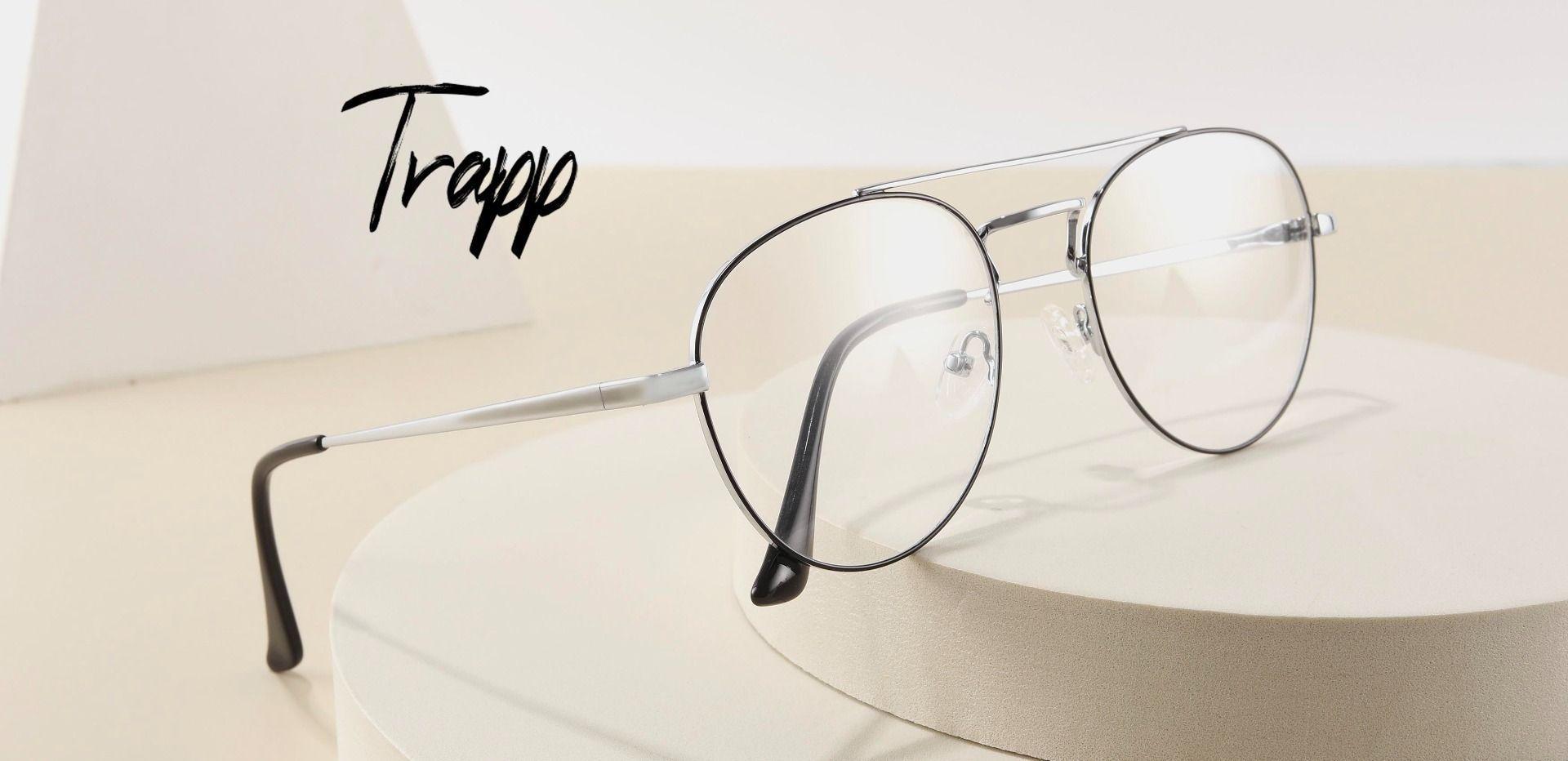 Trapp Aviator Progressive Glasses - Gray