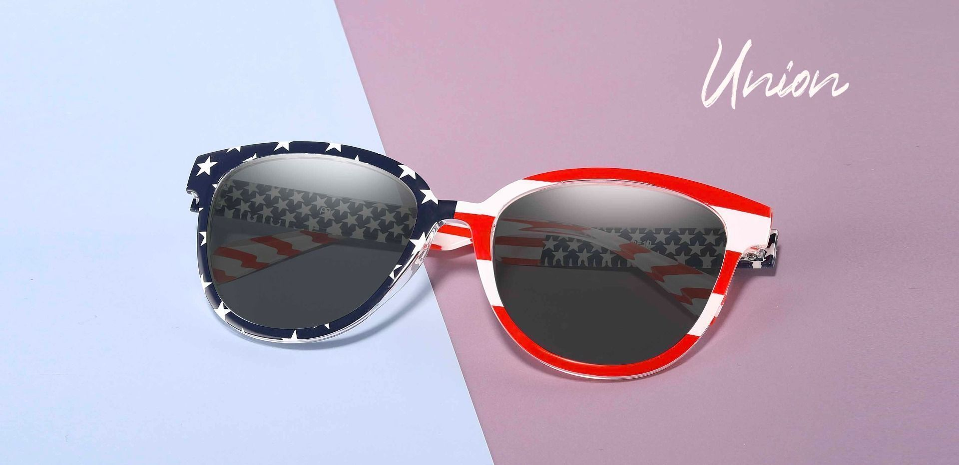 Union Square Non-Rx Sunglasses - Floral Frame With Gray Lenses