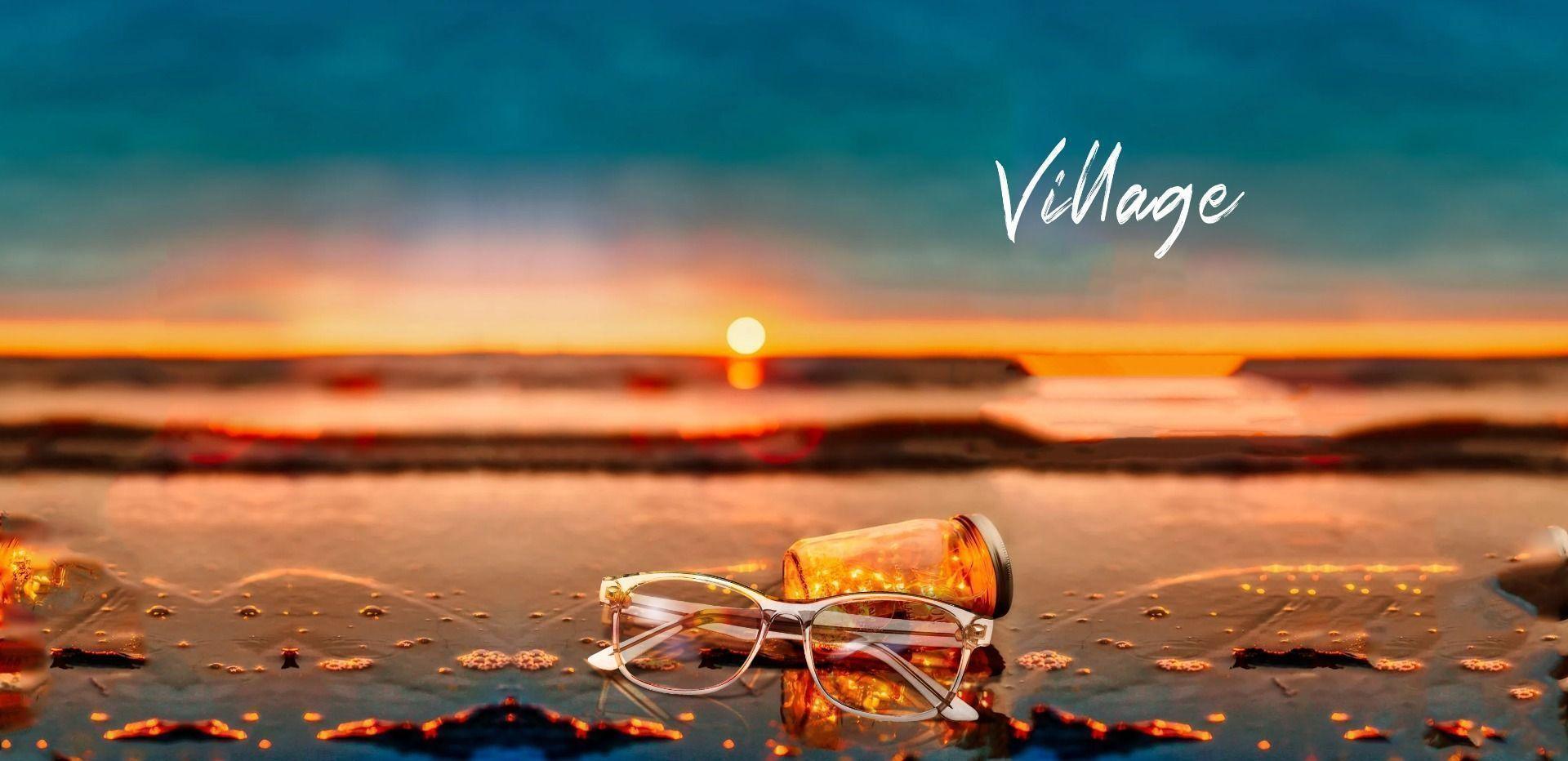 Village Rectangle Prescription Glasses - Gray