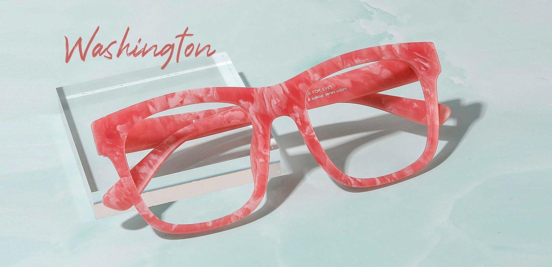 Washington Square Single Vision Glasses - Pink