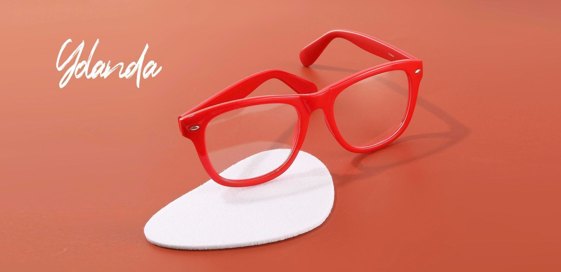 Yolanda Square Lined Bifocal Glasses - Red