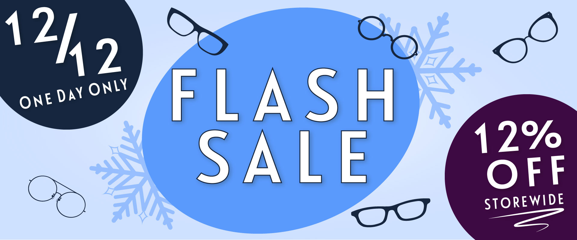 Enjoy 12% off the best prices on the Internet for prescription glasses, one day only on 12/12!