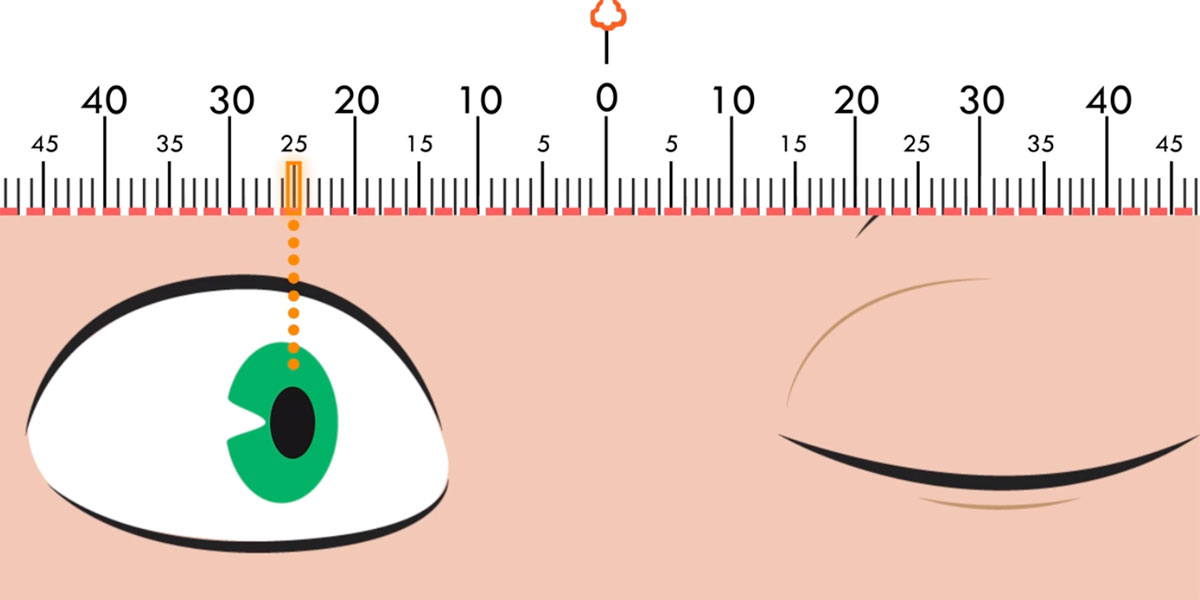 How to measure pupillary distance (PD).
